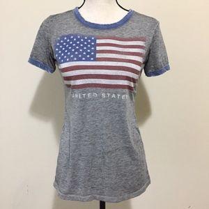 Vintage USA American Flag Crew Neck Shirt